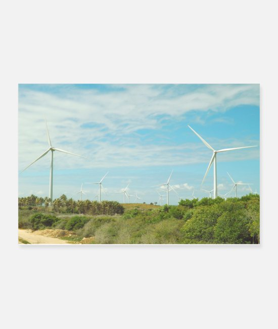Travel Posters - Windmills in the countryside - Posters white