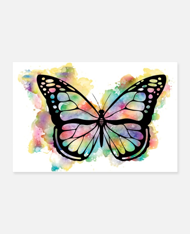 Art Posters - butterfly - Posters white
