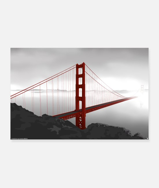 Nature Posters - Golden Gate Bridge - Posters white