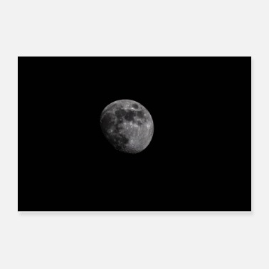 Black And White Moon - Poster 12x8