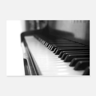 Black And White Piano - Poster 12x8