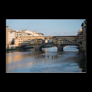 Bridges of Florence Italy VI - Poster 12x8