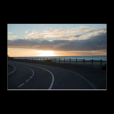Sunrise road - Poster 12x8