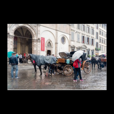 Florence Tuscany in the rain - Poster 12x8