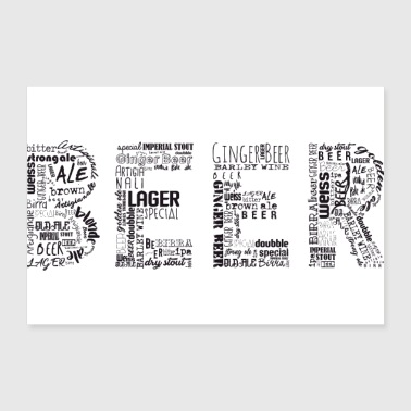 Beer Tag Cloud - Poster 12x8
