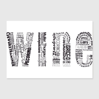Wine Tag Cloud - Poster 12x8