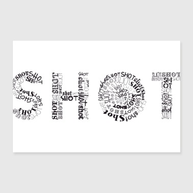 Shots Tag Cloud - Poster 12x8