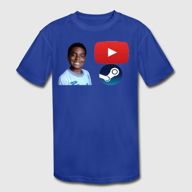 Steam and Youtube - Kid's Moisture Wicking Performance T-Shirt