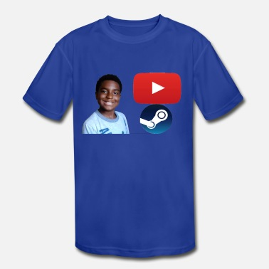 Youtube Steam and Youtube - Kids' Moisture Wicking Performance T-Shirt