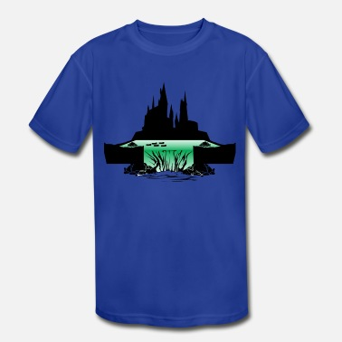 Slytherin Hogwarts Slytherin - Kids' Moisture Wicking Performance T-Shirt