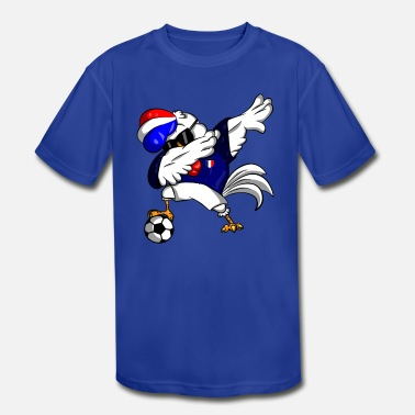 French Soccer Chicken - Kids' Moisture Wicking Performance T-Shirt