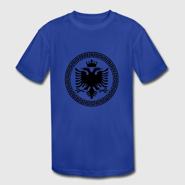 Cute Albania T-Shirt Albanian Eagle Flag Gift - Kid's Moisture Wicking Performance T-Shirt