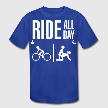 RIDE ALL DAY - Kid's Moisture Wicking Performance T-Shirt