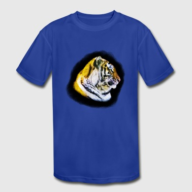 Tiger Head Tigers Head - Kid's Moisture Wicking Performance T-Shirt