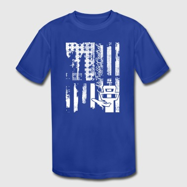 Air Traffic Control Flag Shirt - Kid's Moisture Wicking Performance T-Shirt