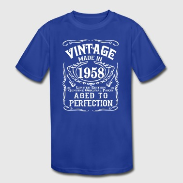 Vintage Made in 1958 Genuine Original Parts - Kid's Moisture Wicking Performance T-Shirt