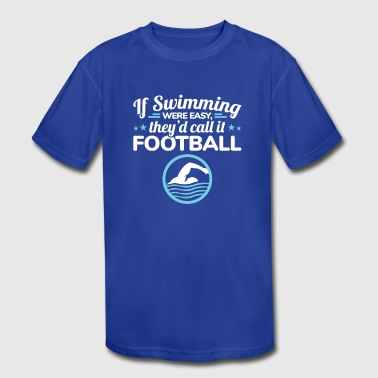 Funny Swimming Competitive Swimmer - Kid's Moisture Wicking Performance T-Shirt
