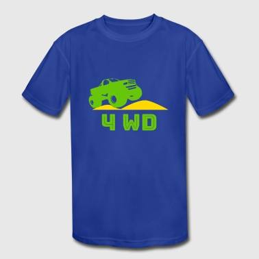 4wd Jeep - Kid's Moisture Wicking Performance T-Shirt