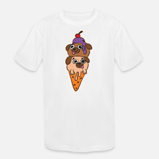 Ice T-Shirts - Ice Cream - Kids' Sport T-Shirt white