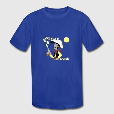Lucky Luke, Poor Lonesome Cowboy! - Kid's Moisture Wicking Performance T-Shirt