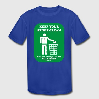 keep your spirit clean solid green - Kid's Moisture Wicking Performance T-Shirt