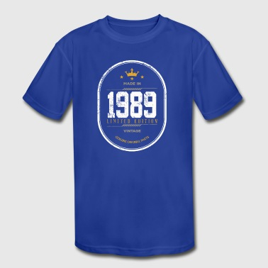 1989 Limited Edition Made In 1989 Limited Edition Vintage - Kid's Moisture Wicking Performance T-Shirt