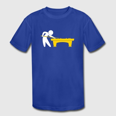 A Pool Player Is On The Pool Table - Kid's Moisture Wicking Performance T-Shirt