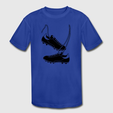 Football Boots - Kid's Moisture Wicking Performance T-Shirt