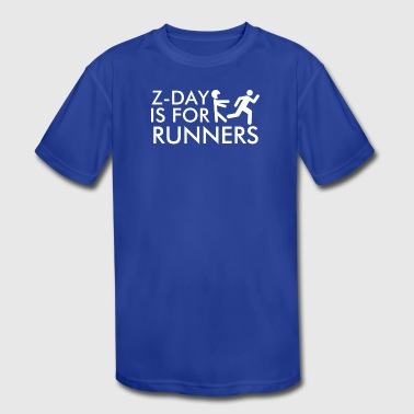 Z Day Is for Runners - Kid's Moisture Wicking Performance T-Shirt