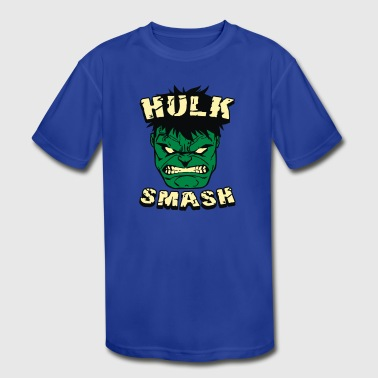 Angry Smash Hero - Kid's Moisture Wicking Performance T-Shirt