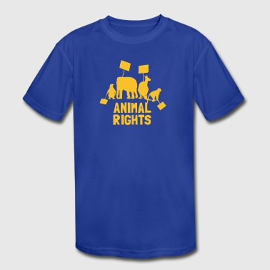 Animal Rights funny tshirt - Kid's Moisture Wicking Performance T-Shirt