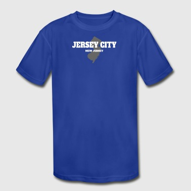 Jersey Jerseys Birthday NEW JERSEY JERSEY CITY US STATE EDITION - Kid's Moisture Wicking Performance T-Shirt