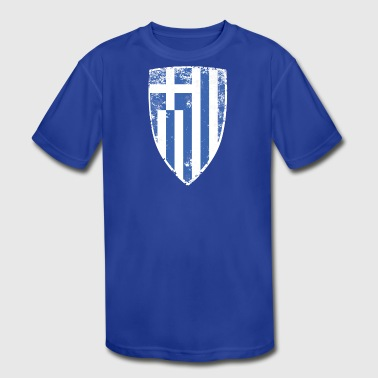 Shield of Greece - Kid's Moisture Wicking Performance T-Shirt
