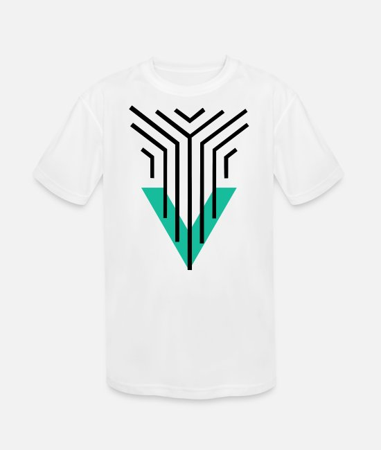 Artist T-Shirts - Shape Triangle Lines - Kids' Sport T-Shirt white