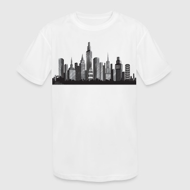 Cityscape ney york - Kid's Moisture Wicking Performance T-Shirt