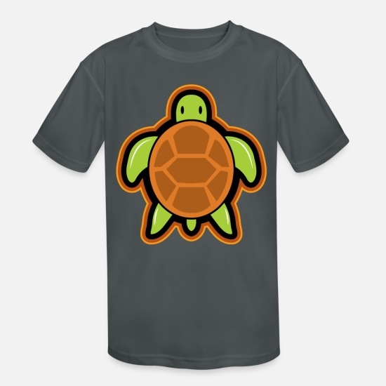 Birthday T-Shirts - Tortoise gift turtle - Kids' Sport T-Shirt charcoal
