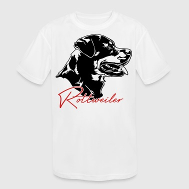 Rottweiler dog - Kid's Moisture Wicking Performance T-Shirt