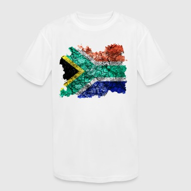South Africa Vintage Flag - Kid's Moisture Wicking Performance T-Shirt