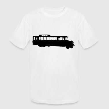 school bus coach omnibus schulbus verkehr8 - Kid's Moisture Wicking Performance T-Shirt