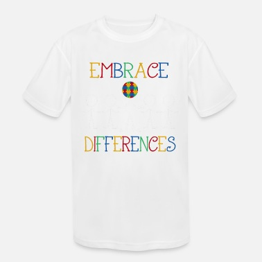 Aspergers Embrace Differences Autism Awareness, Autism - Kids' Sport T-Shirt