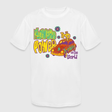 FLOWERS POWER trip - Kid's Moisture Wicking Performance T-Shirt