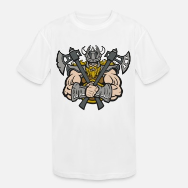 Viking with axes - Kids' Sport T-Shirt