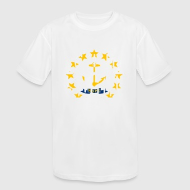 Rhode Island - Kid's Moisture Wicking Performance T-Shirt