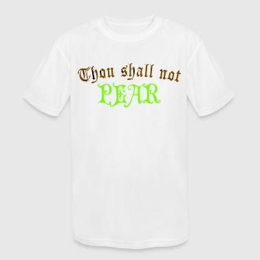 Funny Pear - Through Shall Not Humor - Fruit Humor - Kid's Moisture Wicking Performance T-Shirt