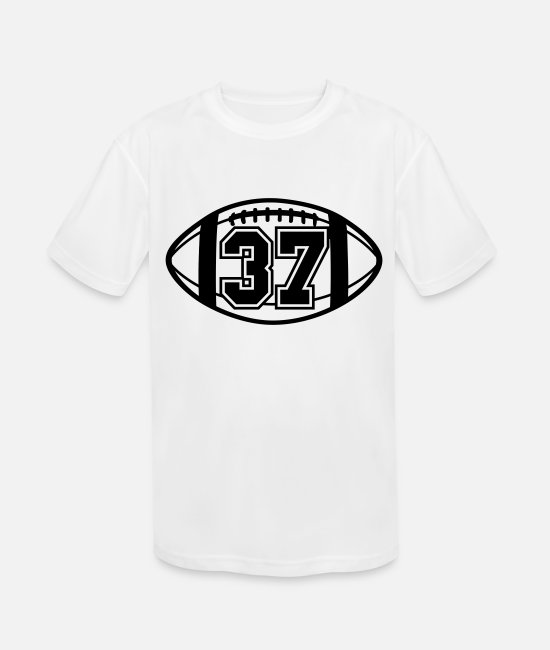 Ball T-Shirts - 37 Football Vector 1_color TAS - Kids' Sport T-Shirt white