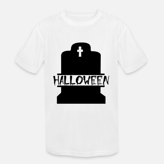 Rest T-Shirts - Halloween Rest in Peace RIP - Kids' Sport T-Shirt white