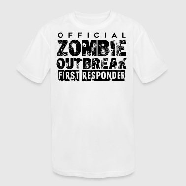 Zombie outbreak first responder - Kid's Moisture Wicking Performance T-Shirt