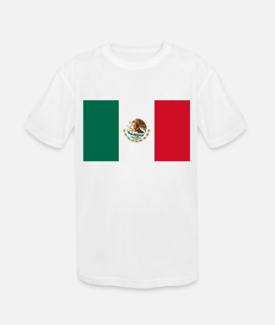 National T-Shirts - Mexico country flag love my land patriot - Kids' Sport T-Shirt white