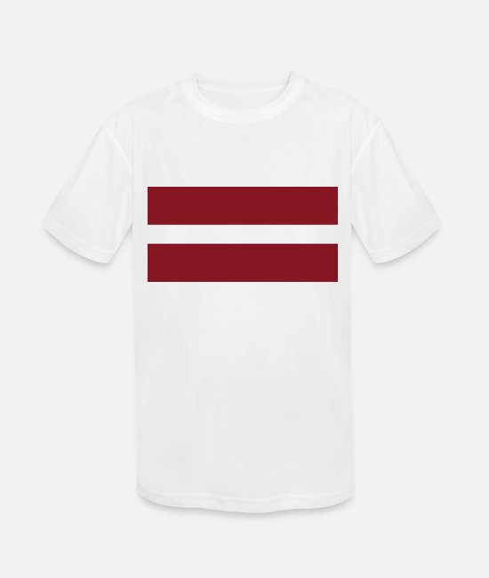 National T-Shirts - Latvia country flag love my land patriot - Kids' Sport T-Shirt white