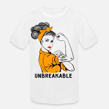 Sclerosis MS Warrior Unbreakable - Multiple Sclerosis - Kids' Sport T-Shirt